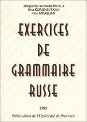 Cover of: Exercices de grammaire russe