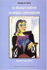 Cover of: Le discours indirect en anglais contemporain