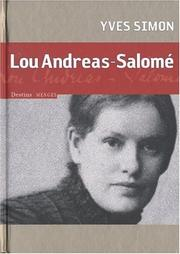Cover of: Lou Andreas-Salomé