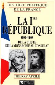 Cover of: La Ire République, 1792-1804