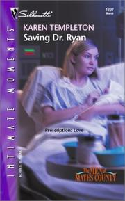 Cover of: Saving Dr. Ryan: The Men of Mayes County (Silhouette Intimate Moments No. 1207) (Silhouette Intimate Moments, 1207)