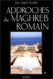 Cover of: Approches du Maghreb romain