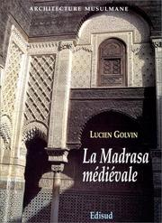 Cover of: La madrasa médiévale