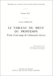 Cover of: Le tableau du bœuf du printemps