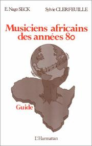 Cover of: Musiciens africains des années 80