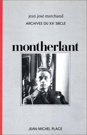 Cover of: Montherlant