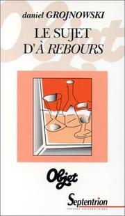 Cover of: Le sujet d'A rebours