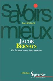 Cover of: Jacob Bernays