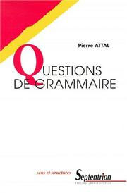 Cover of: Questions de grammaire