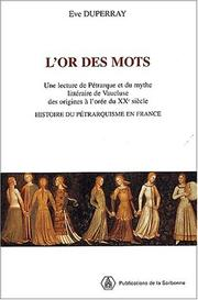 Cover of: L' or des mots