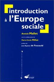 Cover of: Introduction à l'Europe sociale