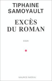 Cover of: Excès du roman