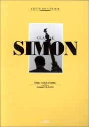 Cover of: Claude Simon