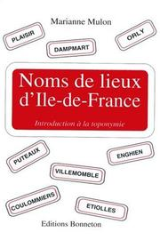 Cover of: Noms de lieux d'Ile-de-France
