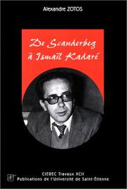 Cover of: De Scanderberg à Ismaïl Kadaré
