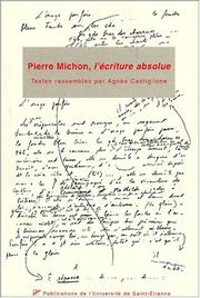 Cover of: Colloque pierre michon