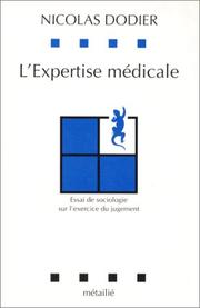 Cover of: L' expertise médicale