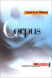Corpus by Jean-Luc Nancy