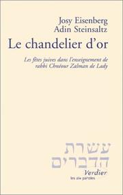 Cover of: Le chandelier d'or
