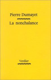 Cover of: La nonchalance