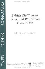 Cover of: British civilians in the Second World War (1939-1945)