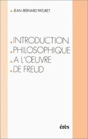 Cover of: Introduction philosophique à l'œuvre de Freud