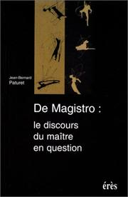 Cover of: De magistro