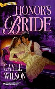 Cover of: Honor'S Bride | Gayle Wilson