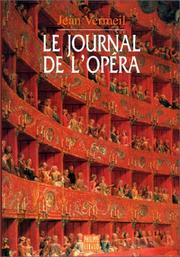 Cover of: Journal de l'opéra