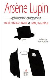 Cover of: Arsène Lupin, gentilhomme-philosopheur