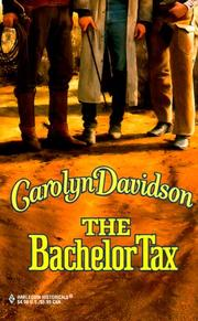 Cover of: Bachelor Tax | Carolyn Davidson