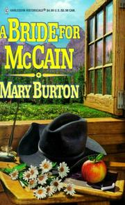 Cover of: A Bride for McCain | Mary Burton