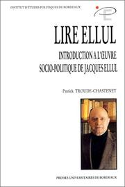Cover of: Lire Ellul