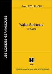 Cover of: Walther Rathenau, 1867-1922