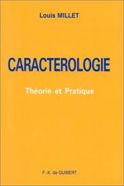 Cover of: Caractérologie