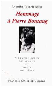 Cover of: Hommage à Pierre Boutang