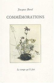Cover of: Commémorations