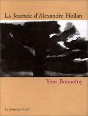 Cover of: La journée d'Alexandre Hollan