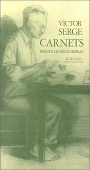 Cover of: Carnets