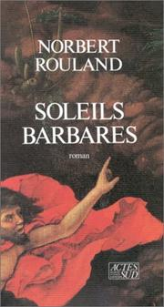 Cover of: Soleils barbares