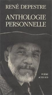 Cover of: Anthologie personnelle