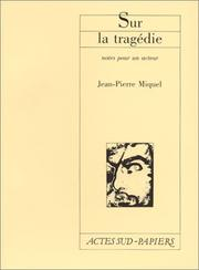 Cover of: Sur la tragédie