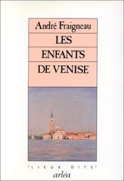 Cover of: Les enfants de Venise