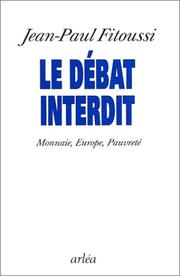 Cover of: Le débat interdit