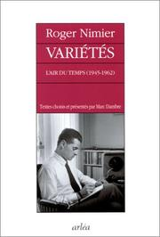 Varietes by Roger Nimier