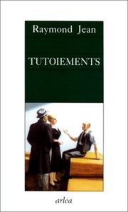 Cover of: Tutoiements