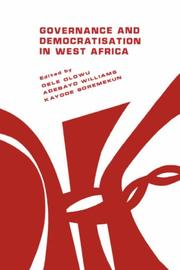 Cover of: Governance and democratisation in West Africa