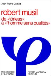 Cover of: Robert Musil