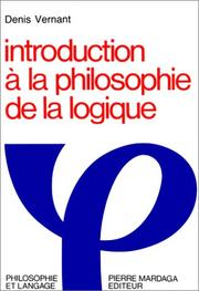 Cover of: Introduction à la philosophie de la logique