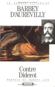Cover of: Contre Diderot